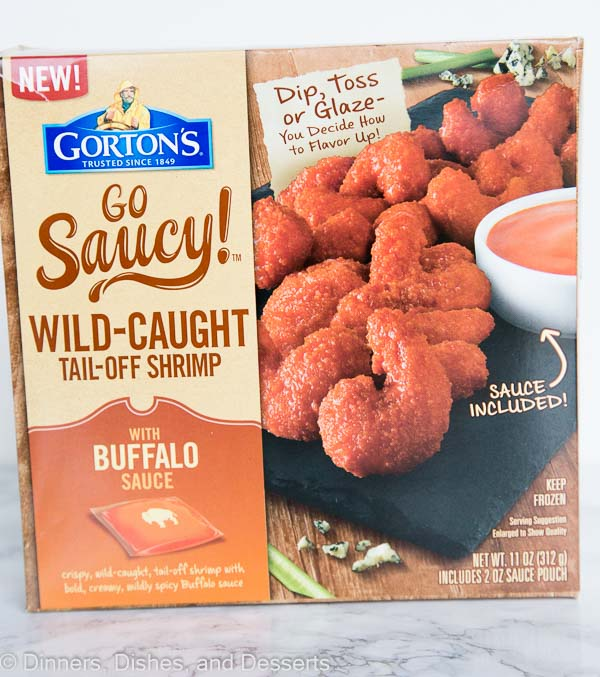 a box of buffalo shrimp from gorton\'s