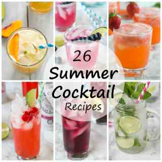26 Summer Cocktail Recipes - Summer is a time for entertaining; sitting on the porch with a cocktail in hand. Here are 26 summer cocktail recipes for you to sip on all summer long!