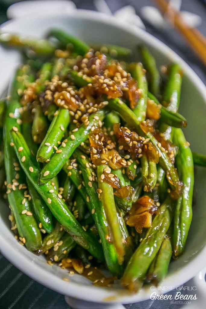 Garlic Chinese Style Green Beans {Sweet C's}