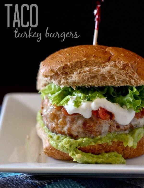 Taco Turkey Burgers {Rachel Cook's}