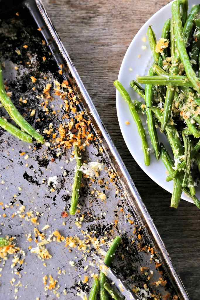 Garlic Parmesan Green Beans {Foodie with Family}