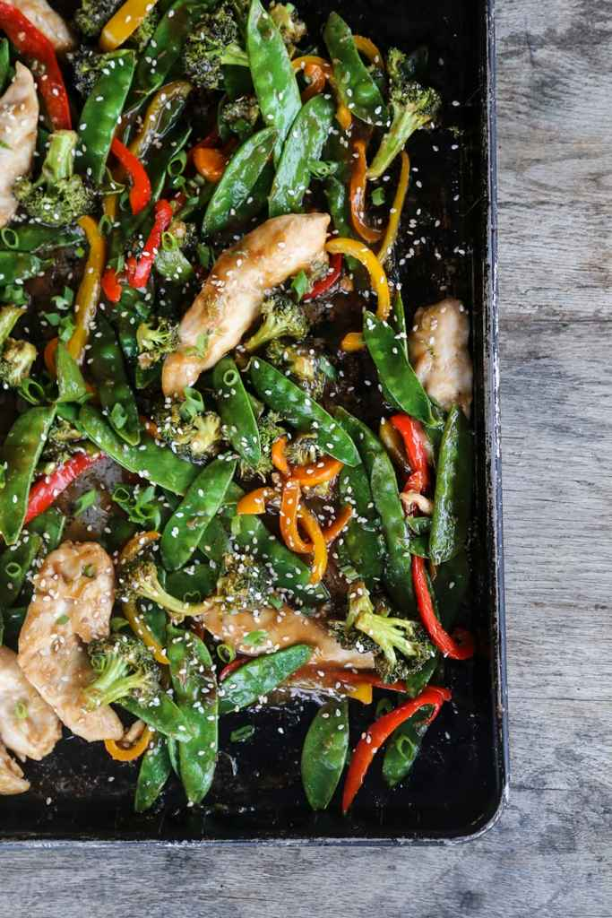 Asian Chicken Stir Fry Sheet Pan Meal {Foodie with Family}