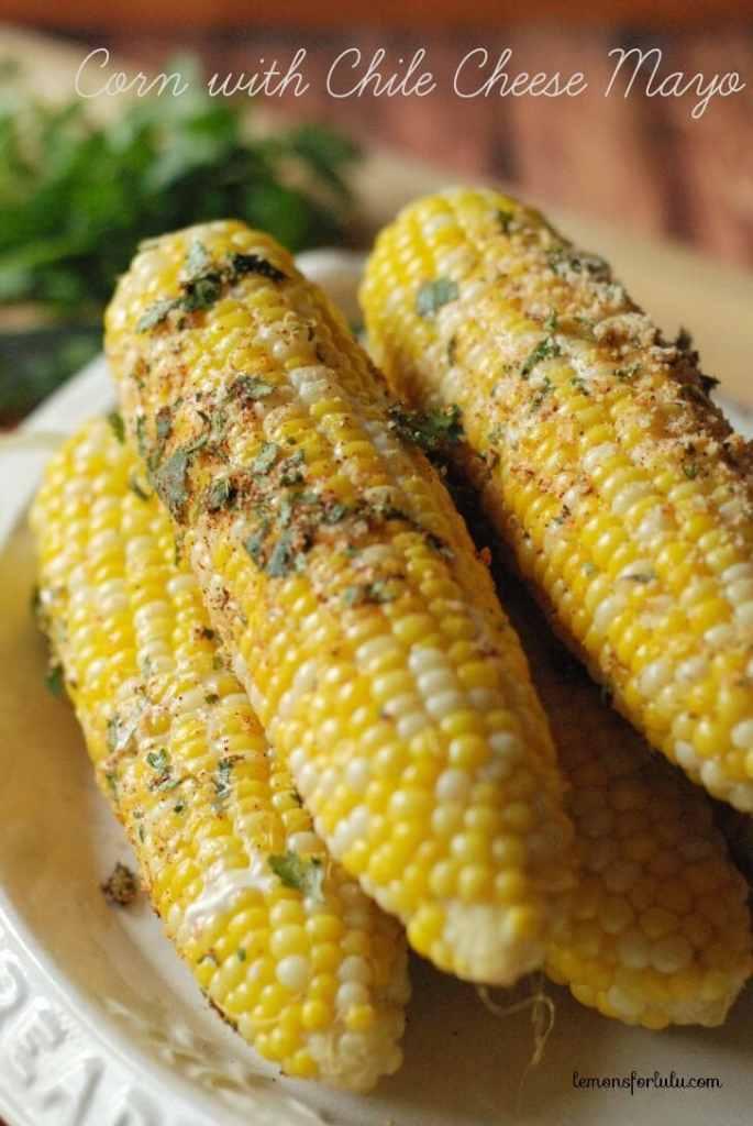 Corn with Chili Cheese Mayo {Lemons for Lulu}
