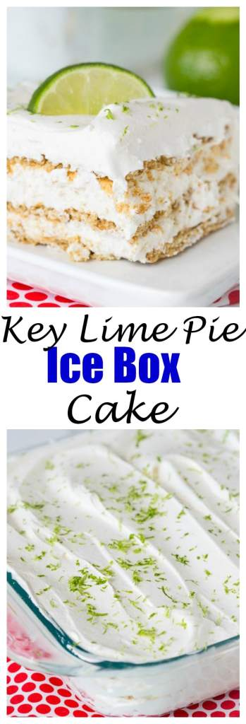 close up of A piece of key lime ice box cake