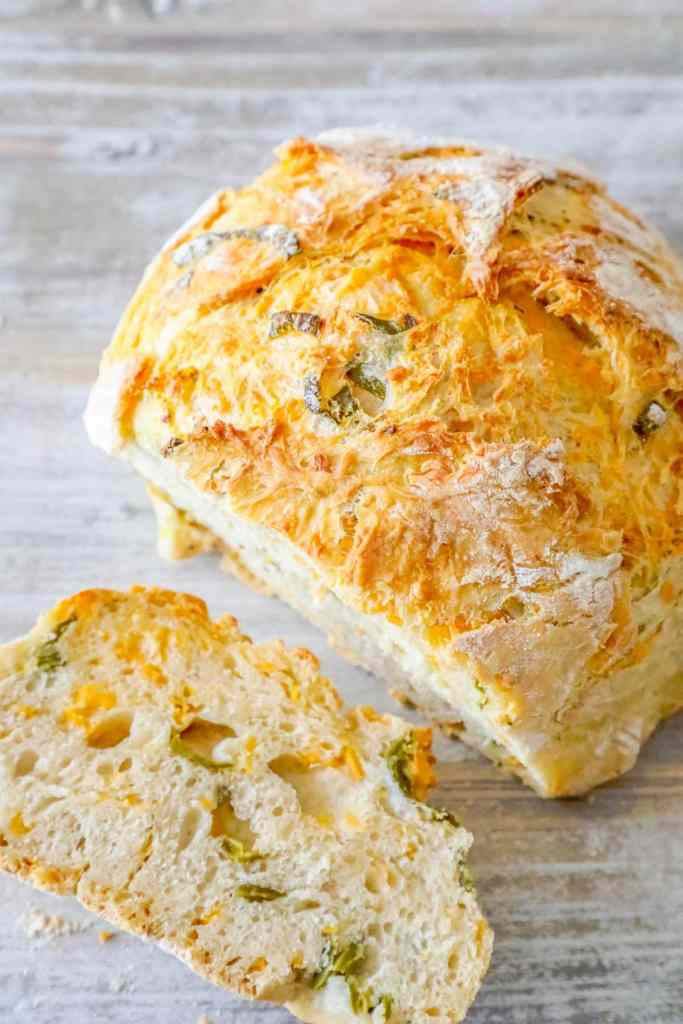 Cheddar Jalapeno Bread {Sweet C's}