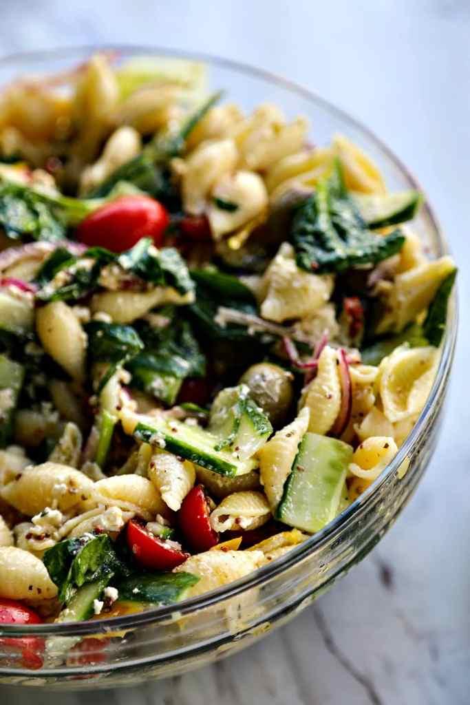 Veggie Lover's Greek Pasta Salad {Foodie with Family}