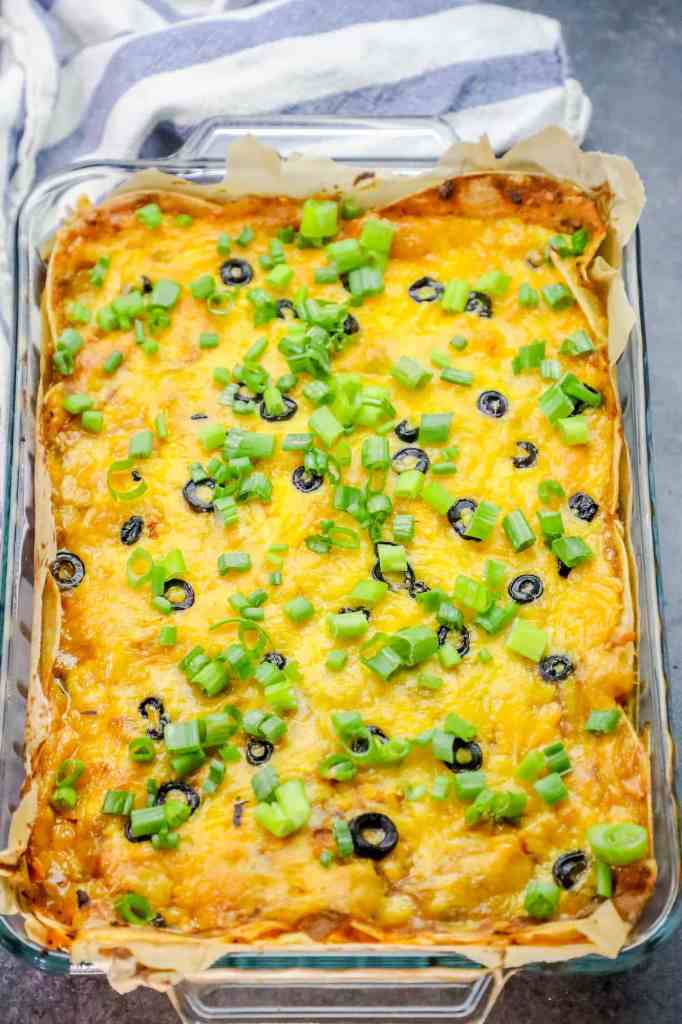 Chicken Enchilada Pie Bake {Sweet C's}