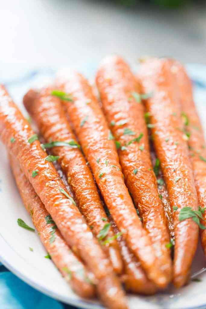 Oven Roasted Carrots with Garlic and Parsley {Lemons for Lulu}