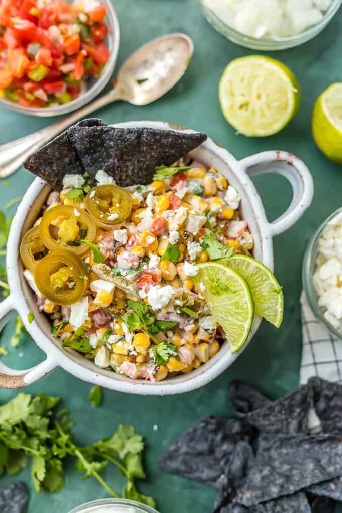 Mexican Street Corn Salsa {The Cookie Rookie}