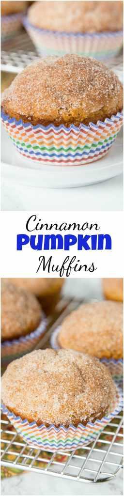 Cinnamon Pumpkin Muffins - soft tender pumpk