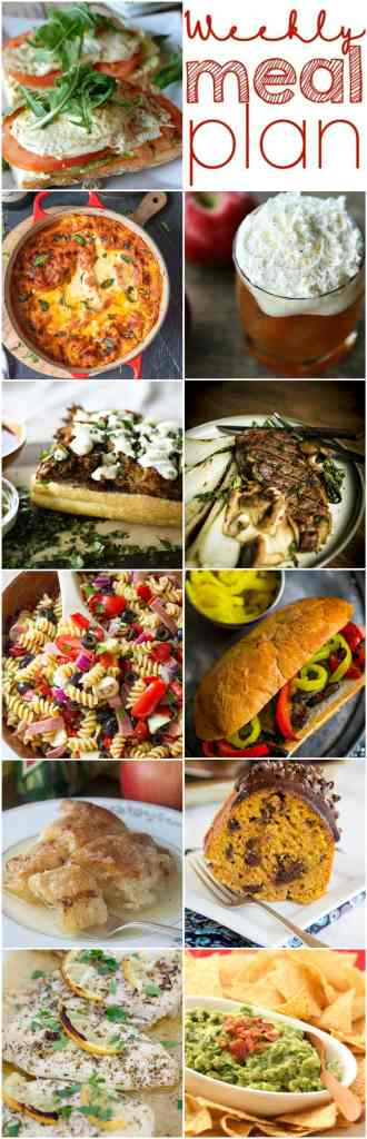 Weekly Meal Plan Week 119 - 10 great bloggers bringing you a full week of recipes including dinner, sides dishes, and desserts!