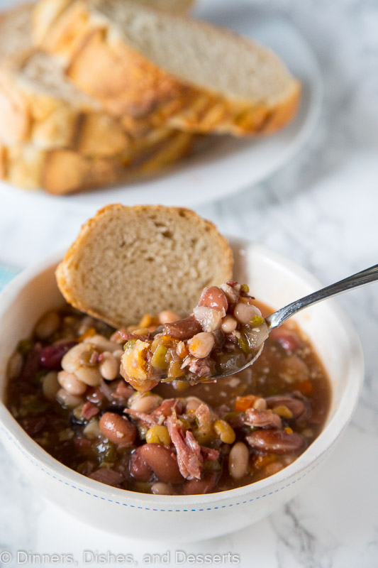 Ham and Bean Soup - a hearty and comforting soup that is not only good for you, but filling and comforting for cold nights.