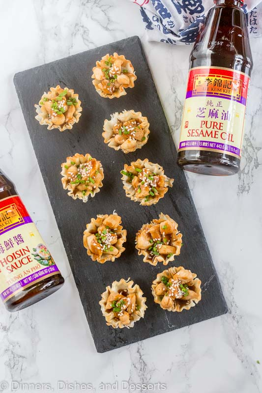 Hoisin Glazed Chicken Cups - a great holiday appetizer!