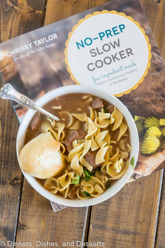 Beef and Noodles recipe - so easy to make this comforting soup in the crock pot!