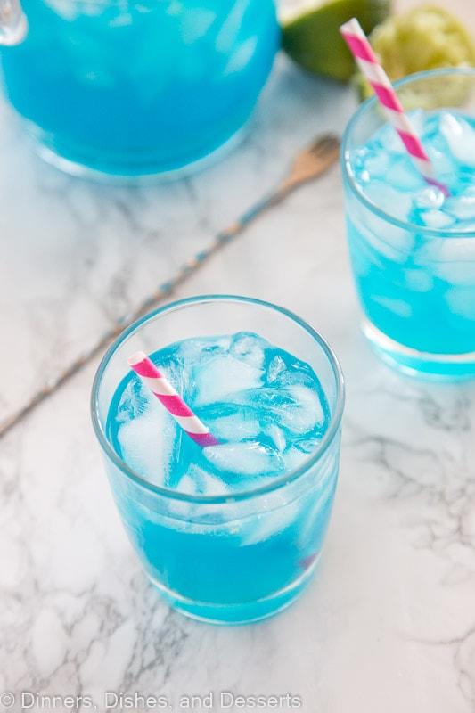 blue margaritas overhead