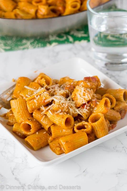 Italian chicken pasta - bruschetta chicken pasta