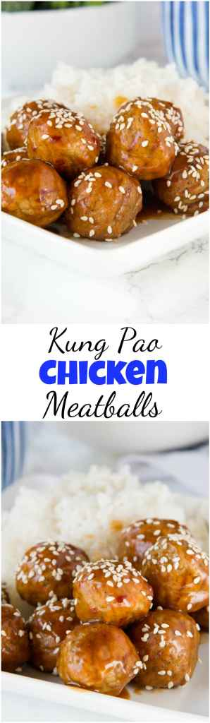 Kung Pao Chicken Meatballs Collage