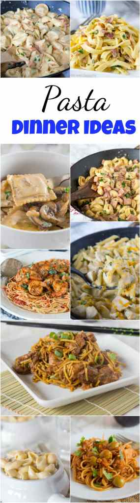 Pasta Dinner Ideas - Craving pasta? Here are 60+  of my favorite pasta dinner ideas that are more than just spaghetti and meatballs. Branch out and cure that pasta craving with any of these great dinner ideas!