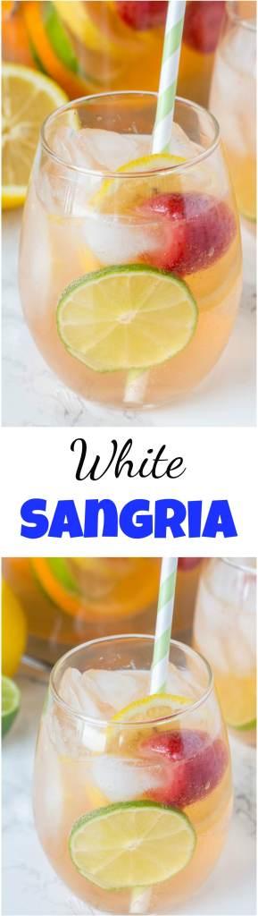 white sangria recipe collage