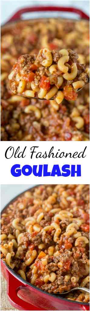 old fashioned goulash - american goulash collage
