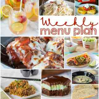 Weekly Meal Plan Week 139 - Make the week easy with this delicious meal plan.  6 dinner recipes, 1 side dish, 1 dessert, and 1 fun cocktail make for a tasty week!