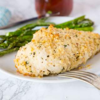 Garlic Baked Chicken Recipe - Crispy oven baked chicken coated with plenty of garlic. Ready in minutes and the whole family will love it!
