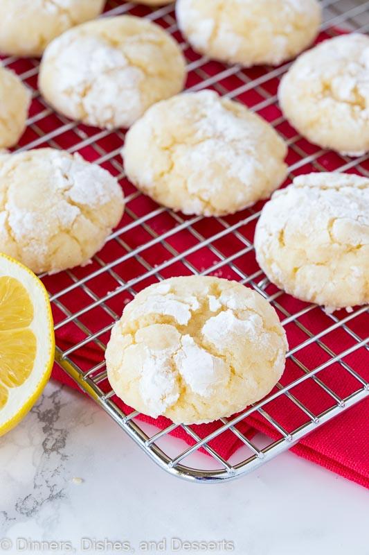 Homemade lemon crinkle cookies