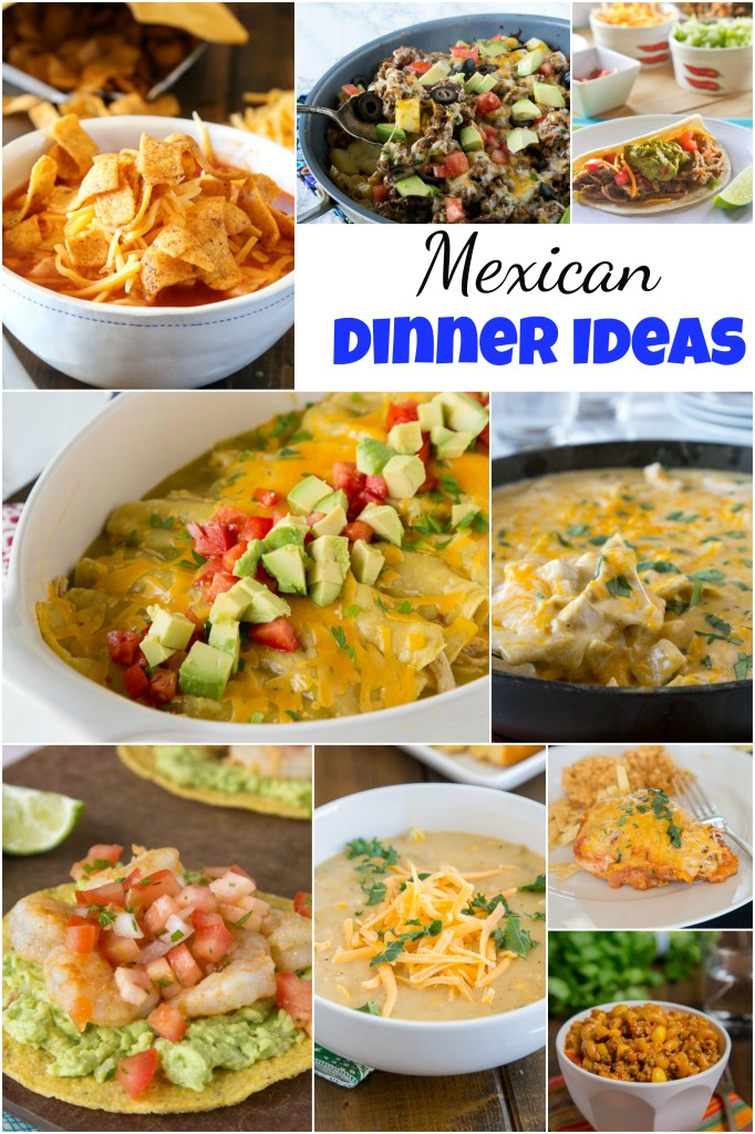 Mexican Dinner Ideas - everyone loves Mexican food!  Tacos, enchiladas, quesadillas, margaritas and more!  But sometimes you want to branch out from the norm.  Here are 40+ of my favorite Mexican dinner ideas for any night of the week!
