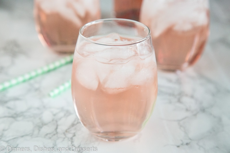 Rose Wine Spritzer - Use your favorite rose wine to make a wine spritzer. Crisp, cool, and refreshing. Great for sipping any time of year.