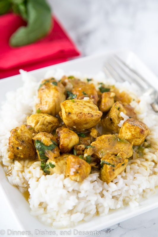Chicken Curry with Coconut Basil Sauce