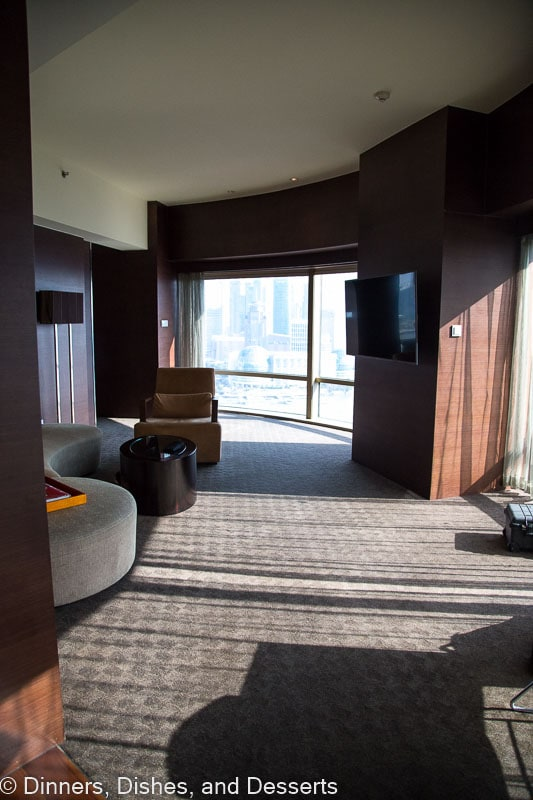 Hyatt on the Bund living area