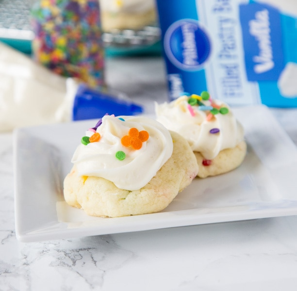 Frosted Funfetti® Cake Mix Cookies