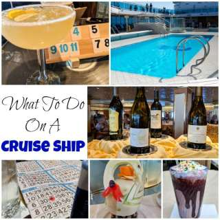 What to do on a Cruise Ship - have a cruise planned?  Wondering how to fill your time and make sure you don't get bored?  Here are lots of great ideas to keep you busy and having fun!