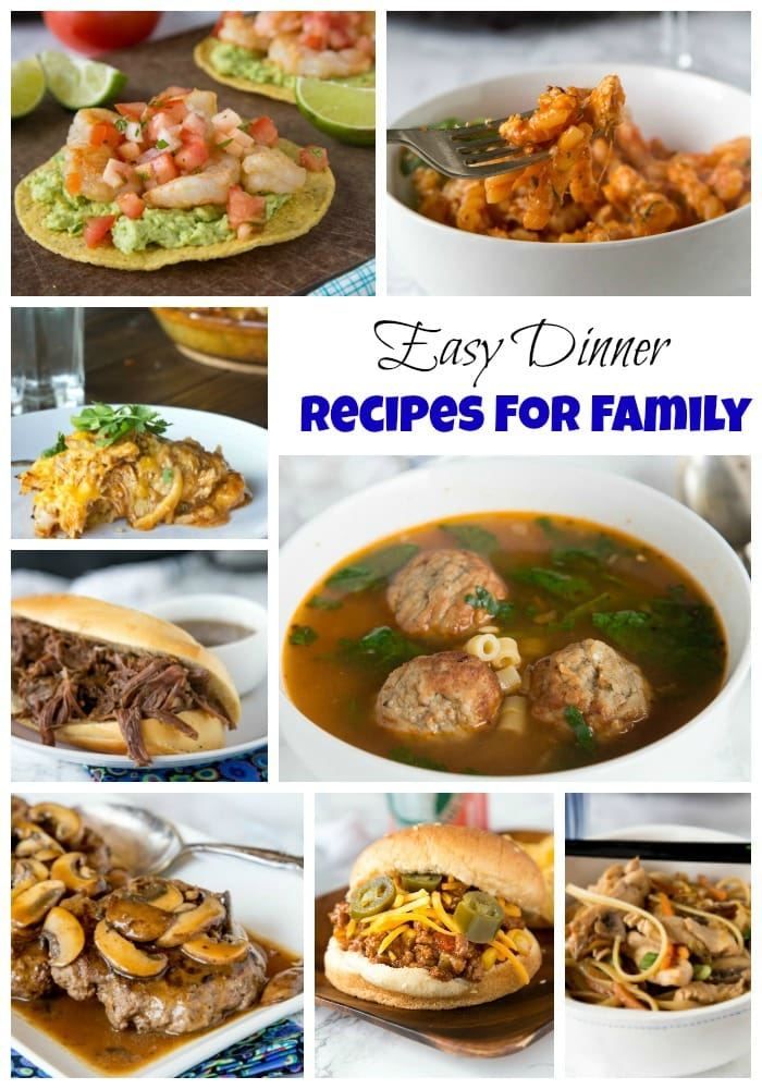 Easy Dinner Recipes for Family - get dinner on the table fast and without much work. The whole family will love these dinner ideas!