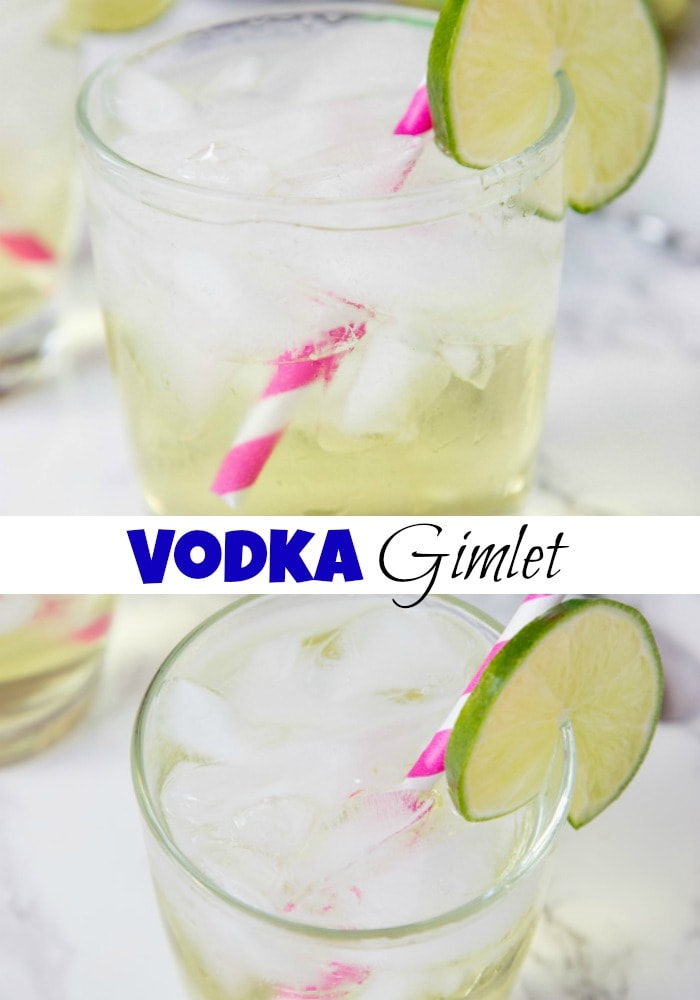 Vodka Gimlet Recipe -a classic cocktail with sweetened lime juice and vodka. Cool, refreshing, and delicious!