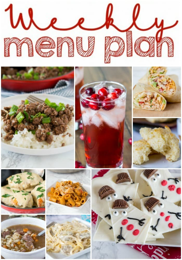 Weekly Meal Plan Week 176 - Make the week easy with this delicious meal plan. 6 dinner recipes, 1 side dish, 1 dessert, and 1 fun cocktail make for a tasty week!