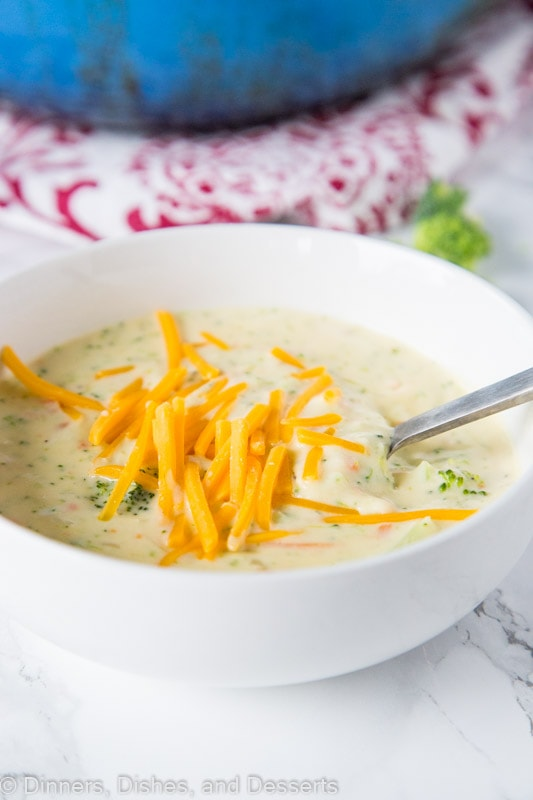 Broccoli Cheese Soup - A super comforting and easy soup that you can get on the table in minutes.  Great for those chilly nights!