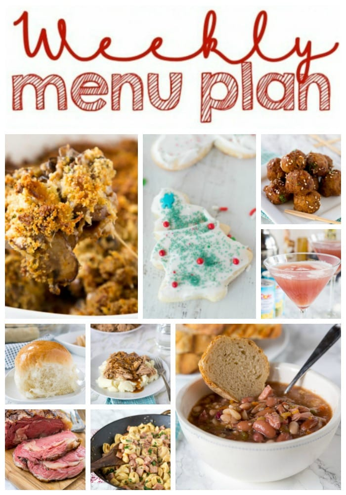 Weekly Meal Plan Week 180 - Make the week easy with this delicious meal plan. 6 dinner recipes, 1 side dish, 1 dessert, and 1 fun cocktail make for a tasty week!