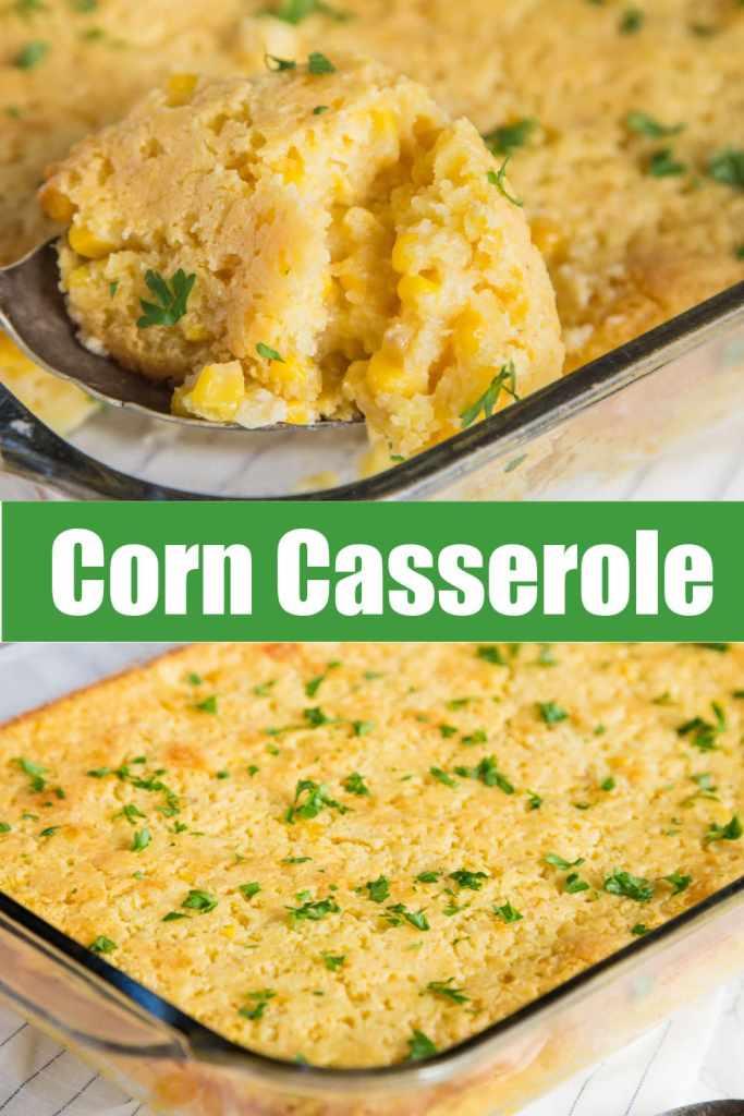 corn casserole up close