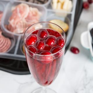 Holiday Entertaining and Cranberry Mimosas - get ready for the holidays and holiday parties with a little help from the store!  Make your get together easy with these platters and an fun cocktail!