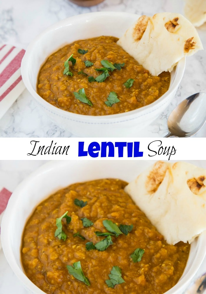 Indian Lentil Soup - a classic Indian Masoor Dal soup that is full of warm comforting spices, lentils and is great any night of the week!