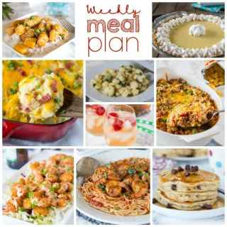 Weekly Meal Plan Week 196- Make the week easy with this delicious meal plan. 6 dinner recipes, 1 side dish, 1 dessert, and 1 fun cocktail make for a tasty week!