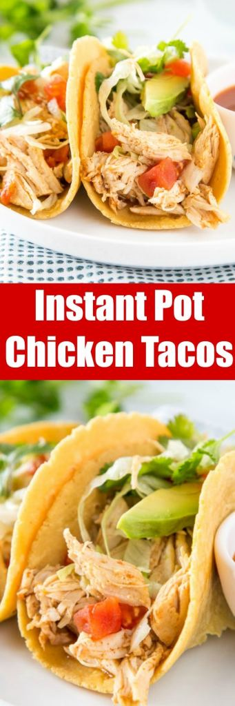 Instant Pot Chicken Tacos - make taco night extra tasty with this flavorful and easy chicken! Great for tacos, salads, quesadillas, burritos and more all week long!