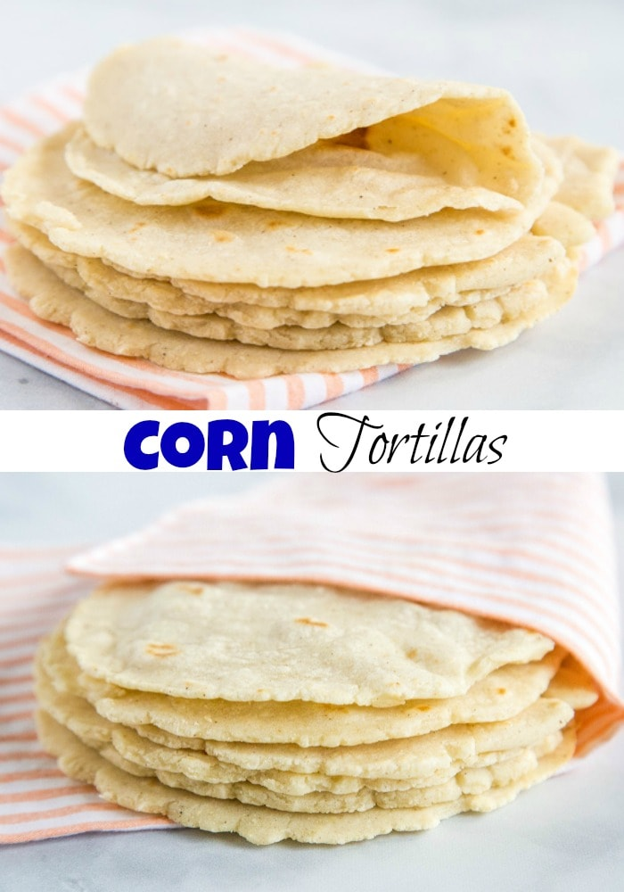 Homemade Corn Tortillas - Mexican night just got better with these easy, just 3 ingredient homemade tortillas. So much better than store bought.
