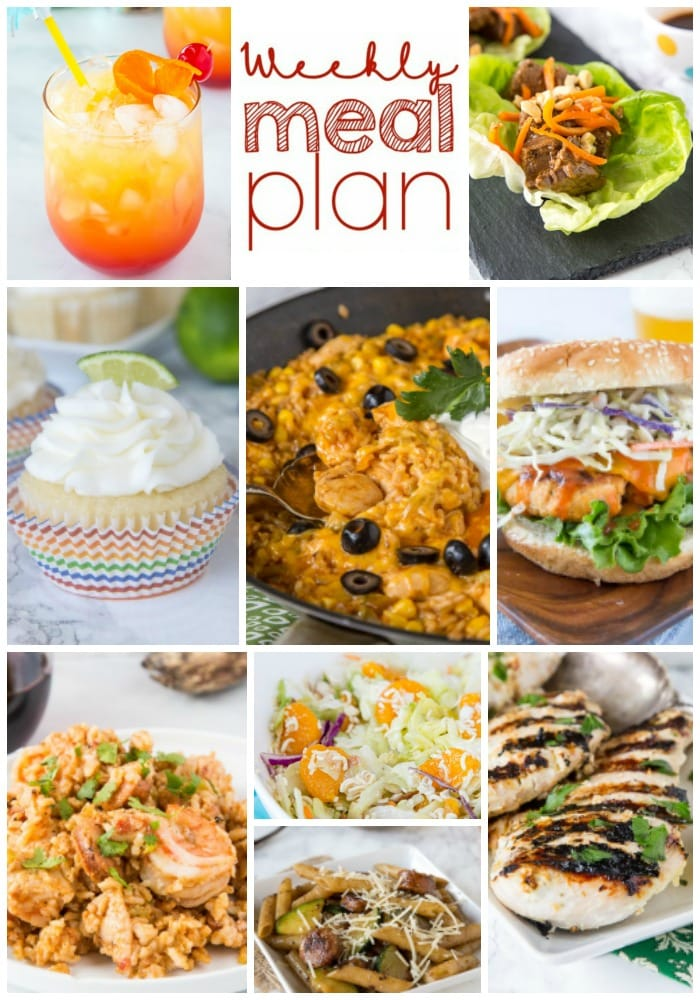weekly meal plan collage pin