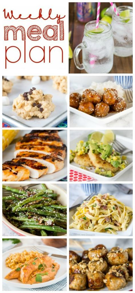 A bunch of different types of food on a plate, with Dinner and Plan