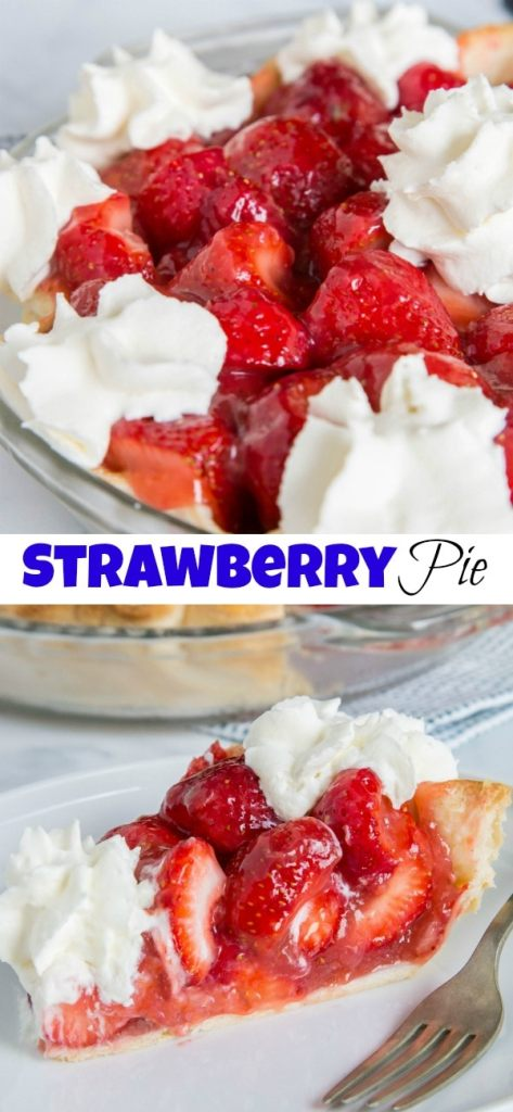 Fresh Strawberry Pie - an easy strawberry pie in a buttery flaky crust all made without Jello. A classic summer dessert that is a must every year!