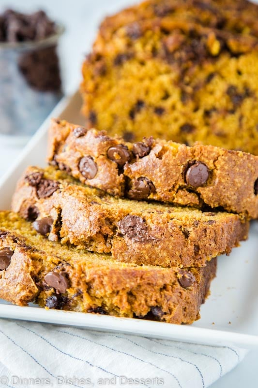 Pumpkin Bread with lots of chocolate chips