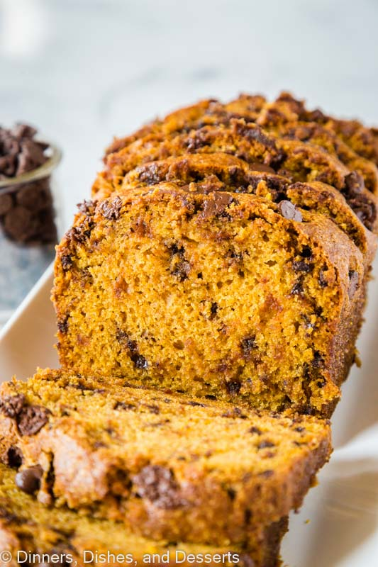Chocolate Chip Pumpkin Bread is a great fall recipe
