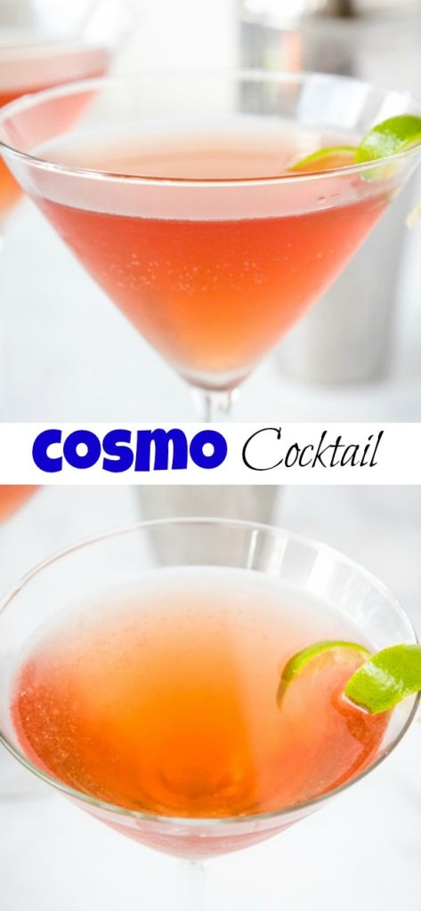 Cosmopolitan Drink - the classic cosmo drink recipe that is made with vodka, triple sec, cranberry juice, and freshly squeezed lime juice. Perfectly fruity, refreshing, and delicious.